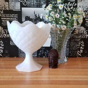 Napco Milk Glass Compote.